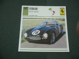 CARTOLINA CARD SCHEDA TECNICA  AUTO  CARS  FERRARI 250 GT ZAGATO - Altri