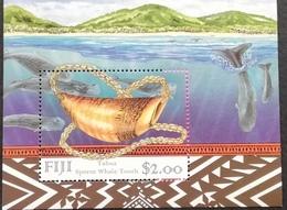 Fiji   1998 Sperm Whale Tooth S/S - Fiji (1970-...)