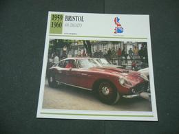 CARTOLINA CARD SCHEDA TECNICA  AUTO  CARS  BRISTOL 406 ZAGATO - Altri