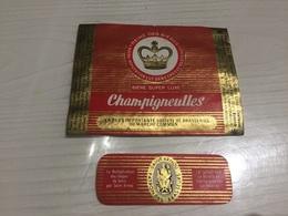 Ancienne Étiquette BIÈRE SUPER LUXE CHAMPIGNEULLES BRASSERIE MEURTHE-ET-MOSELLE - Bière