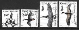 Finlande 2017 N°2467/2470 Oblitérés Oiseaux Migrateurs - Finnland