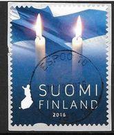 Finlande 2016 Timbre Oblitéré Bougies - Finlande