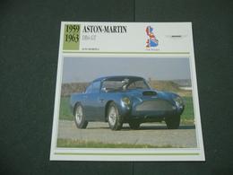 CARTOLINA CARD SCHEDA TECNICA  AUTO  CARS  ASTON MARTIN DB4 GT - Altri