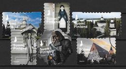 Finlande 2016 N°2446/2451 Oblitérés Patrimoine, églises - Finnland