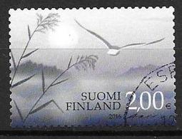 Finlande 2016 Timbre Oblitéré, Timbre De Deuil - Finlande