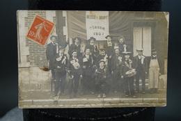 CPA Carte Photo Ancienne Bessé Sur Braye Classe Copains 1907 - France