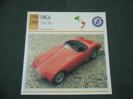 CARTOLINA CARD SCHEDA TECNICA  AUTO  CARS  OSCA 1100-1500 - Altri