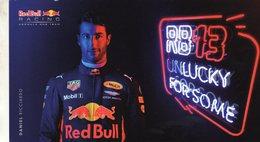 Daniel Ricciardo  -  Red Bull Racing  -  Formule 1 2016  -  Carte Promo - Grand Prix / F1