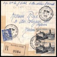 9134 Lettre Recommandé Cover Bouches Du Rhone N°905 Arbois + Gandon 1953Marseille Le Cantini - Postmark Collection (Covers)