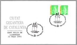 CIUTAT GEGANTERA DE CATALUNYA - GIGANTES - GIANTS. Sant Feliu De Llobregat, 2001 - Mitología