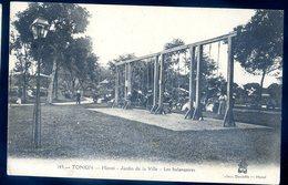 Cpa De Tonkin  Viêt Nam Hanoï Jardin De La Ville Les Balançoires   YN38 - Viêt-Nam