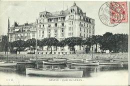 CPA De GENEVE - Quai Du Léman. - GE Genève