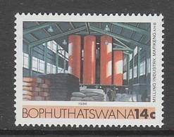 TIMBRE NEUF DU BOPHUTHATSWANA - INDUSTRIE : MINOTERIE A MAFEKING N° Y&T 169 - Usines & Industries
