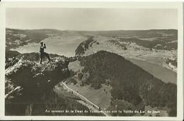CPA - Au Sommet De La Dent De Vaulion - Vue Sur La Vallée Du Lac De Joux. - VD Vaud