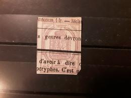 France JOURNAUX ,1868, Yvert No 1, 2 C Lilas NON DENTELE Obl Typo , Cote 85 Euros - Giornali