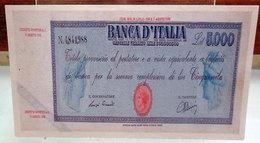 MINI BANCONOTA FAC-SIMILE LIRE CINQUEMILA 1943 - Fictifs & Spécimens