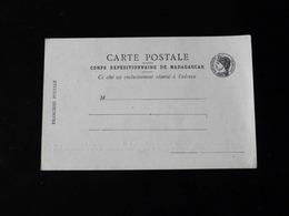 CARTE POSTALE  -  CORPS EXPEDITIONNAIRE DE MADAGASCAR  - - Tarjetas De Franquicia Militare