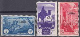 LIBIA (COLONIA ITALIANA) - 1936/1937 - Tre Valori Nuovi MNH Di Yvert Posta Aerea 3/5, Come Da Immagine. - Libyen