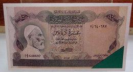 MINI BANCONOTA FAC-SIMILE 10 DINARS CENTRAL BANK OF LIBYA - Fictifs & Spécimens