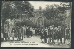 Gard. Uzès. Pensionnat Sainte Anne ,la Récréation. - Uzès