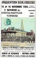 Argenton-sur-Creuse 36200 - 5ème Bourse Aux Collections Novembre 1986 - 1000ex - Bourses & Salons De Collections