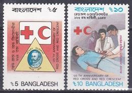 Bangladesch Bangladesh 1988 Organisationen Medizin Medicine Gesundheit Health Rotes Kreuz Red Cross, Mi. 287-8 ** - Bangladesch