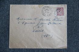 Timbres Sur Lettre De ST RAPHAEL (83) Vers PARIS (75015) - 1939-44 Iris
