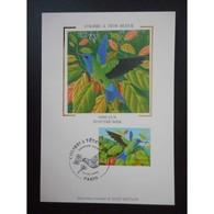 Carte Premier Jour - Colibri à Tête Bleue - Oblit 22/3/03 Paris - Maximum Cards