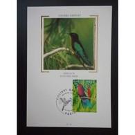Carte Premier Jour - Colibri Grenat - Oblit 22/3/03 Paris - Maximum Cards