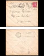 10220 Lettre Cover Bouches Du Rhone N°416 Mercure 1939 Marseille Gare Flier Fumez Des Cigarettes Celtiques - Poststempel (Briefe)