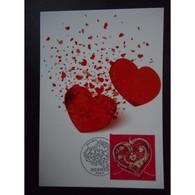 Carte Premier Jour - Coeur Hermès - Oblit 25/1/13 Paris - Maximum Cards