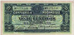 Mozambique , 1933 , Companhia De Moçambique , 20 Centavos , UNC , Perforated  PAGO 5.11.1942 - Mozambique