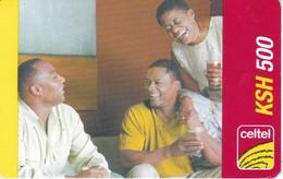 TARJETA DE KENIA DE CELTEL DE KSH 500 DE UNOS AMIGOS DATE 31/12/2008 - Kenya