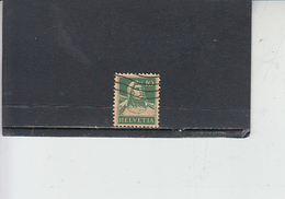 SVIZZERA  1916-22 - Unificato  161° - Tell - Svizzera