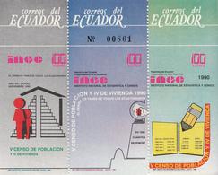 1990 Ecuador Census   Souvenir Sheet MNH - Equateur