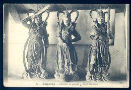 Cpa Du  Viêt Nam Haïphong Intérieur De Pagode -- Sujet Boudhiste (1)   YN38 - Viêt-Nam