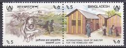 Bangladesch Bangladesh 1987 Gebäude Bauwerke Häuser Haus Wohnungen, Mi. 272-3 ** - Bangladesch