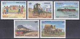 Bangladesch Bangladesh 1987 Transportmittel Verkehr Eisenbahn Railway Fahrrad Bicycle Schiffe Ships, Mi. 266-0 ** - Bangladesch
