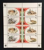 Palestine 2001; WWF Birds, Wild Animals MNH** VF; Rare!! - W.W.F.