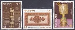 Bangladesch Bangladesh 1987 Wirtschaft Economy Export Kunsthandwerk Handicrafts Teppiche Carpets, Mi. 262-4 ** - Bangladesch