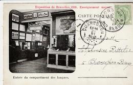 Exposition De Bruxelles 1910 Enseignement Moyen , Entrée Du Compartiment Des Langues - Wereldtentoonstellingen