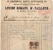 VP13.869 - Facture - Draperies Haute Nouveauté ....Lucien ROMAND Marchand Tailleur à MOREZ - DU - JURA - Electricity & Gas