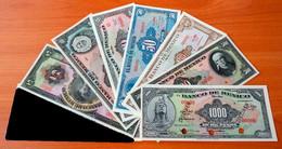 Mexico 8 Banknotes Specimen 1, 5, 10, 20, 50, 100, 500, 1000 Pesos UNC - Mexico