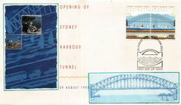 AUSTRALIA. Sydney Harbour Bridge + Sydney Harbour Tunnel Opening 1992.  FDC Sydney - Ponti