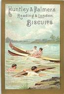Themes Div-ref Z417- Chromo 11,5cms X 7,5cms -biscuits Huntley And Palmers - Canotage - Canoés - - Confiserie & Biscuits