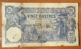 French Indochina 20 Piastres 1920 P-41 - Indochine