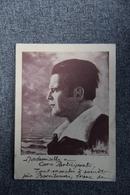 Portrait, écrit Provençal Et Autographe De JORGI REBOUL, Poète Occitan Né En 1901 à MARSEILLE ( Format CPA) - Ecrivains