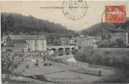 54 REHON . Environs De Longwy , Le Village , Le Pont , édit : Picard Frères Longwy-bas , écrite En 1911 , état Extra - Francia