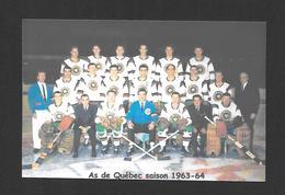 SPORTS - HOCKEY - LE CLUB DE HOCKEY LES AS DE QUÉBEC SAISON 1963 - 1964 - Sports D'hiver