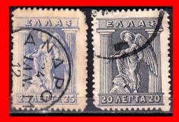 GRECIA – GREECE  2 SELLOS 1913-23 - IRIS HOLDING CADUCEUS - Grecia